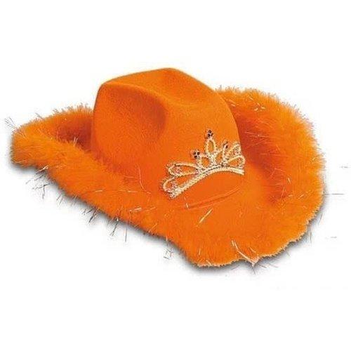 Folat Folat - Cowboyhoed - Oranje - Met licht