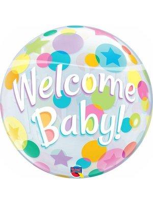 Folat Folat - Folieballon - Bubble - Welcome baby - Zonder vulling