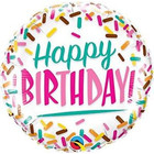 Qualatex Folat - Folieballon - Happy birthday - Zonder vulling - 46cm