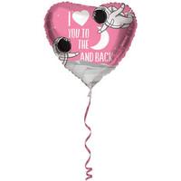 Folat - Folieballon - Hart - I Love You To The Moon... - 45cm - Zonder vulling
