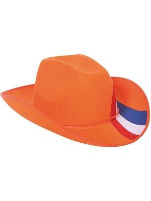 Folat Folat - Hoed - Oranje - Met rwb streep