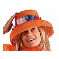 Folat - Hoed - Organza - Oranje - Holland