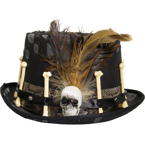 Folat Folat - Hoed - Halloween - Veren & botten