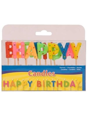 Folat Kaarsjes - Op prikker - Happy Birthday