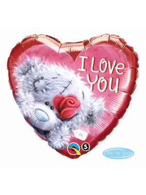 Folat Folieballon - I love you teddy - 45cm - Zonder vulling