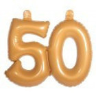 Folat Folat - Opblaascijfer - 50 Jaar - Goud
