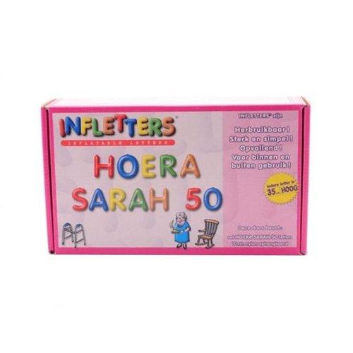 Folat Folat - Opblaasletters - Hoera Sarah 50