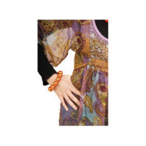 Folat Folat - Parelarmband - Oranje