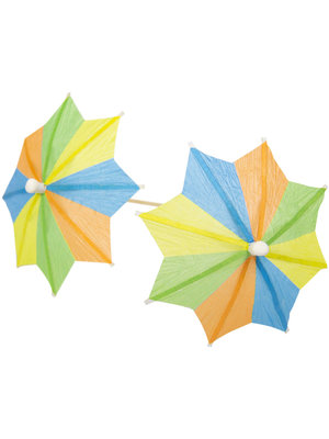 Folat Folat - Prikkers - Parasol - Zomerkleuren - 10cm - 10st.