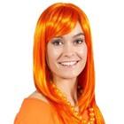 Folat Folat - Pruik - Oranje - Half lang - Holland