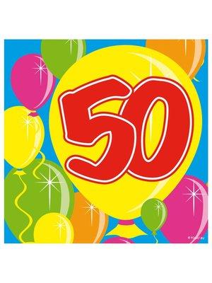 Folat Servetten - Ballonnen - 50 jaar - 25x25cm - 20st
