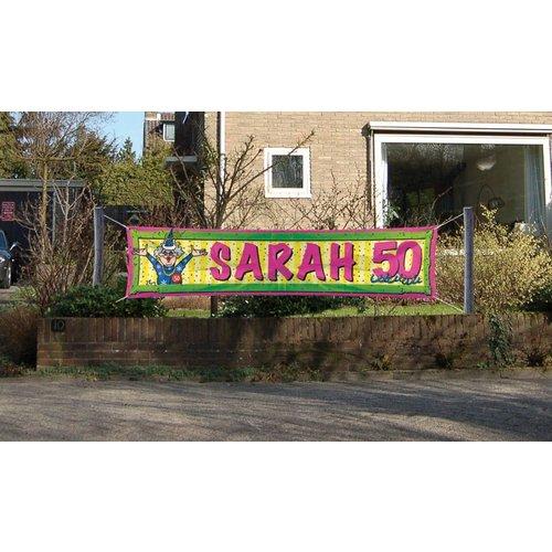 Folat Folat - Straatbanner - Sarah - 50 Jaar