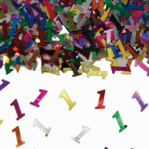 Folat Tafeldecoratie - Confetti - 1 Jaar - 14 Gram*