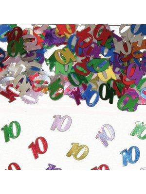 Folat Tafeldecoratie - Confetti - 10 Jaar - 14 Gram*