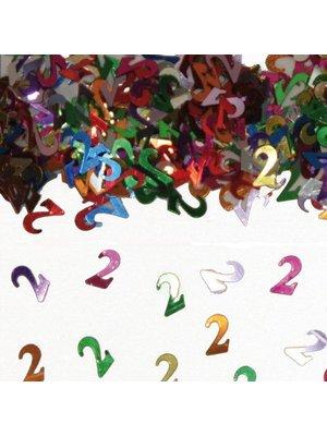 Folat Tafeldecoratie - Confetti - 2 Jaar - 14 Gram