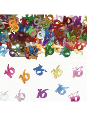 Folat Tafeldecoratie - Confetti - 16 Jaar - 14 Gram
