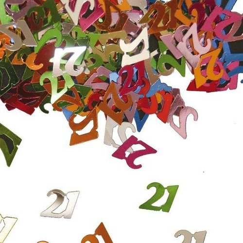 Folat Tafeldecoratie - Confetti - 21 Jaar - 14 Gram