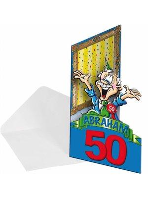 Folat Folat - Uitnodigingskaarten - Abraham 50 jaar - 8st.