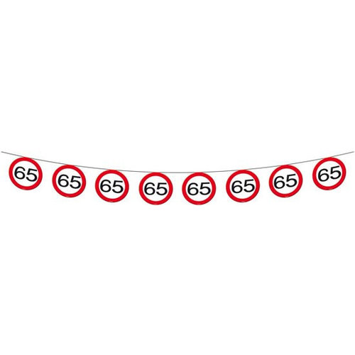 Folat Folat - Verkeersbord slinger - 65 jaar - 12m
