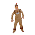 Fries Fries - Kostuum - Indiaan - Kleine wolf - mt.116