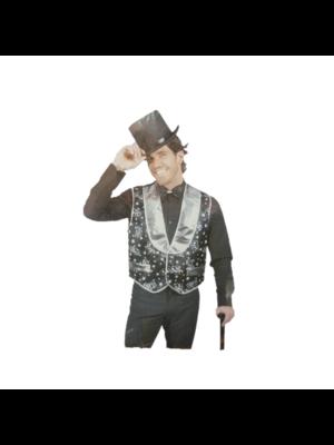 Funny Fashion Kostuum - Gilet - Goochelaar - XL