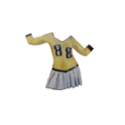 Funny Fashion Funny Fashion - Kostuum - Cheerleader - Geel - S