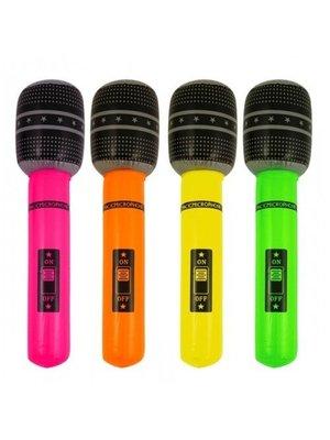 Henbrandt Microfoon - Opblaasbaar - 40cm - 1st. - Willekeurig geleverd