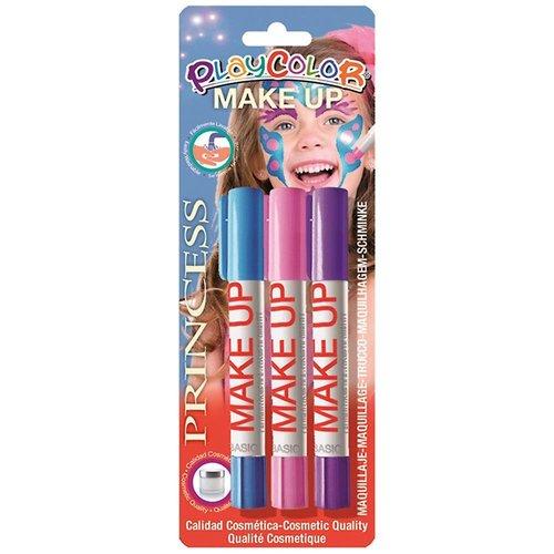 Interstat Schminkstiften - Blauw, rood & paars