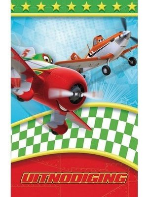 Interstat Interstat - Uitnodigingskaarten - Cars planes - 6st.