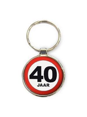 Miko Sleutelhanger - 40 Jaar - Rond