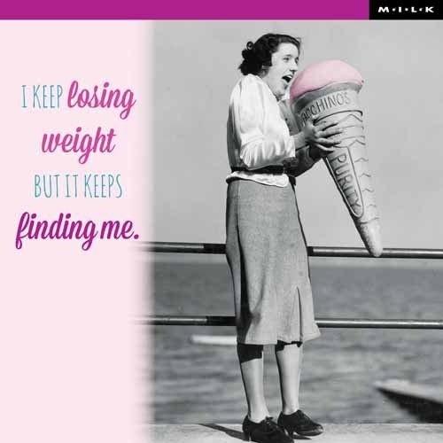 MILK MILK - Kaart - I keep losing weight...
