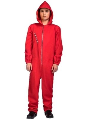 My Other Me - Overall met capuchon man - Rood - M/L