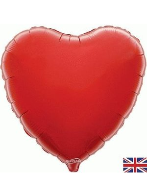 PartyXplosion - Oaktree - Folieballon - Hart - Rood - Zonder vulling - 45cm
