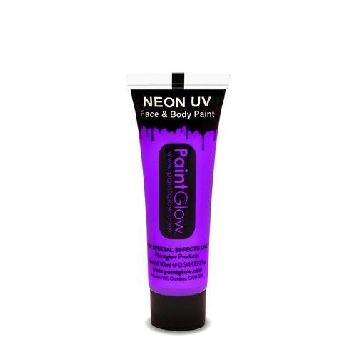 Partychimp Paintglow - Face & body paint - Neon lichtblauw - 10ml