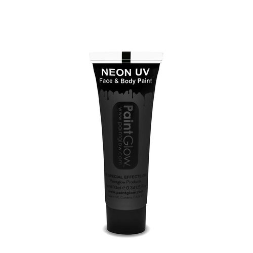 Partychimp Paintglow - Face & body paint - Zwart - 10ml