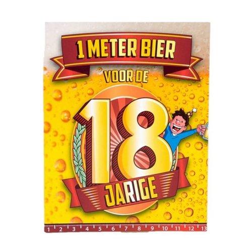 Paperdreams Paperdreams - 1 Meter bier kaart - 18 Jaar