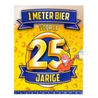 Paperdreams Paperdreams - 1 Meter bier kaart - 25 Jaar