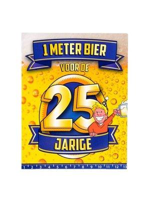 Paperdreams Kaart - 1 Meter bier - 25 Jaar