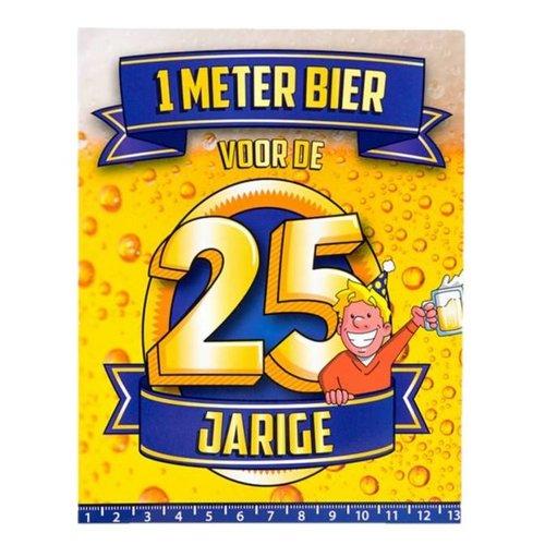 Paperdreams Paperdreams - 1 Meter bier kaart - 25 Jaar