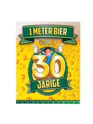 Paperdreams Kaart - 1 Meter bier - 30 Jaar