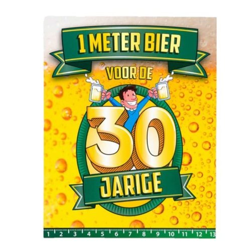 Paperdreams Paperdreams - 1 Meter bier kaart - 30 Jaar