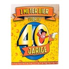 Paperdreams Paperdreams - 1 Meter bier kaart - 40 Jaar