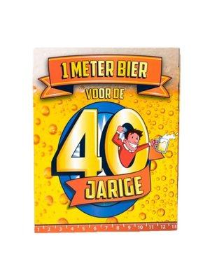 Paperdreams Kaart - 1 Meter bier - 40 Jaar
