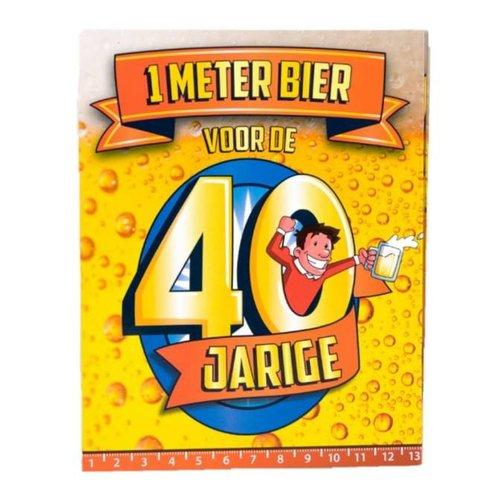 Paperdreams Paperdreams - 1 Meter bier kaart - 40 Jaar