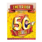Paperdreams Paperdreams - 1 Meter bier kaart - 50 Jaar