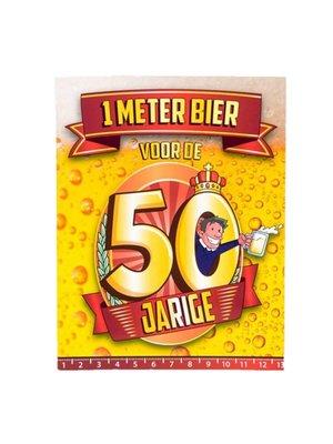 Paperdreams Paperdreams - 1 Meter bier kaart - 50 Jaar
