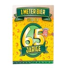 Paperdreams Paperdreams - 1 Meter bier kaart - 65 Jaar