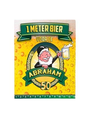 Paperdreams Paperdreams - 1 Meter bier kaart - Abraham
