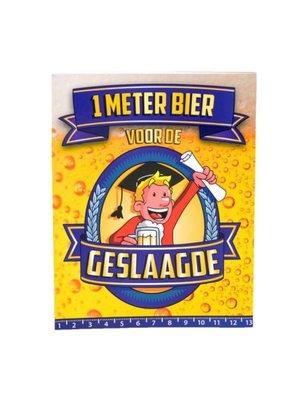 Paperdreams Kaart - 1 Meter bier - Geslaagde