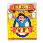 Paperdreams Paperdreams - 1 Meter bier kaart - Jarige